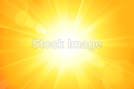 Bright vector sun with lens flare